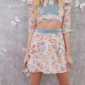 For Love & Lemons Blossom Skirt